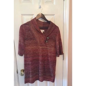 Christopher & Banks Sh Sleeve Sweater NWT M #0191